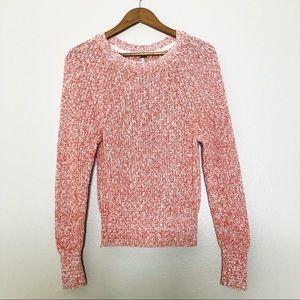 Free People Knit Sweater orange and white XS